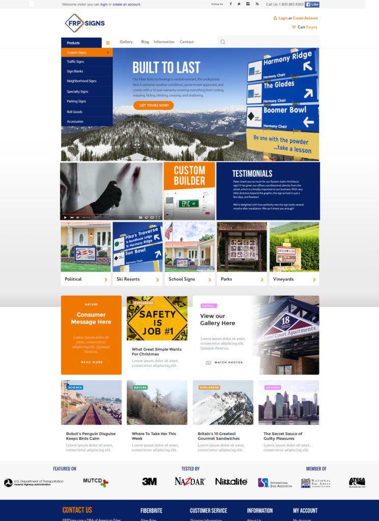 FRPsigns.com website Revamp